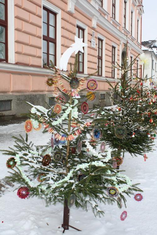 Aktuality - Vratislavovo náměstí má letos o dvanáct nazdobených vánočních stromků více